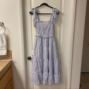 🆕 VICI: Catherine Cotton Smocked Striped Dress